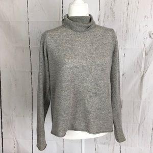 Neiman Marcus Gray Cashmere Turtleneck Sweater